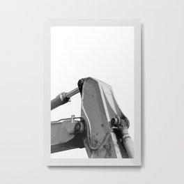 Maschine B/N Metal Print