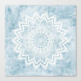 LIGHT BLUE MANDALA SAVANAH Canvas Print