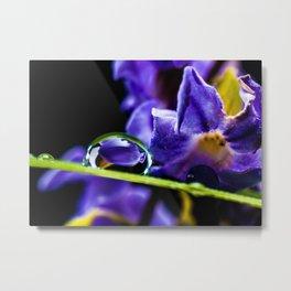 Water Droplet Metal Print