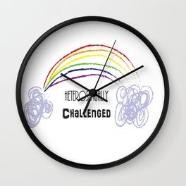 Heterosexually Challenged Wall Clock