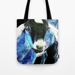 Goat Pop Art - Blue - Sharon Cummings Tote Bag