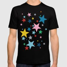 Stars Small Black Mens Fitted Tee X-LARGE