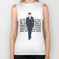 moriarty Biker Tanks featuring James Moriarty by tookthat