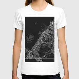 Dubai Black Map T-shirt