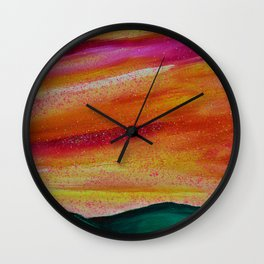 PEACH SKYSCAPE Wall Clock
