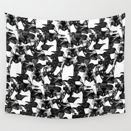 just penguins black white Wall Tapestry
