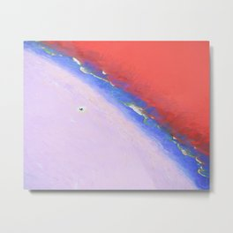 Seaside on the Moon Metal Print
