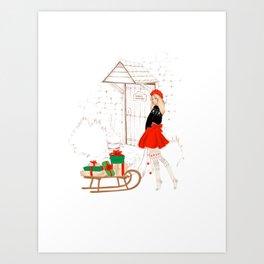 Santa's little workshop Art Print