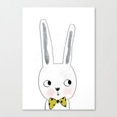 rabbit bow  Canvas Print