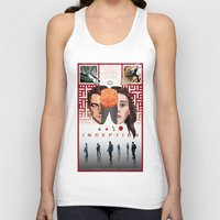inception Tank Tops featuring Inception: comic-book style poster by Norbert Demeter