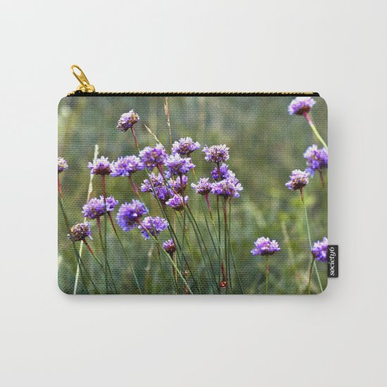 Purple Summer Meadow Carry-All Pouch