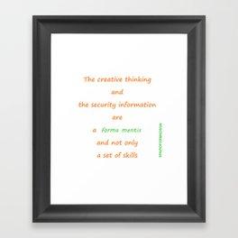 Forma mentis Framed Art Print