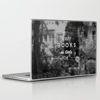 zappa Laptop & iPad Skins featuring So many books, so little time by Jane Mathieu