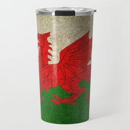 Old and Worn Distressed Vintage Flag of Wales Travel Mug