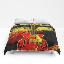 Guitar Rock'n Roll poster design Comforters