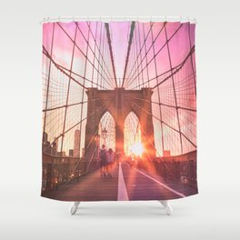 NYC Brooklyn Bridge Shower Curtain