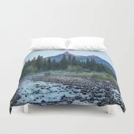 Pilot Peak - Mountain Scenery at Sunrise in Northeastern Yellowstone Duvet Cover