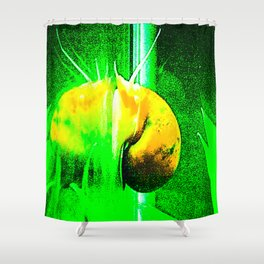 Snail Punch Shower Curtain