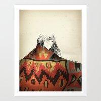 navajo Art Prints featuring Navajo by Karen Hofstetter