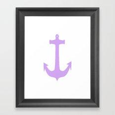 Lavender Anchor Framed Art Print