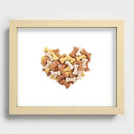 Dog biscuits Valentine heart Recessed Framed Print