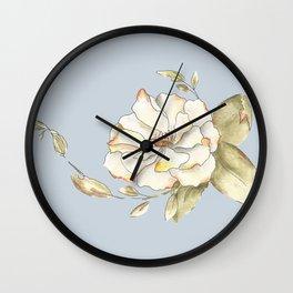 Shrub Rose Wall Clock