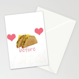 Tacos Before Vatos Gift for Women  Product Stationery Cards