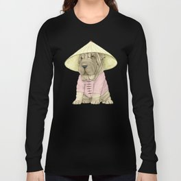 Shar Pei on the Great Wall (China) Long Sleeve T-shirt