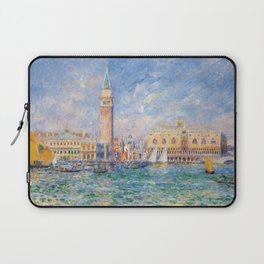 The Palace of the Doge's & St. Mark's Square Venice Italy landscape painting by Pierre Renoir Laptop Sleeve