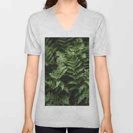 Bunches Of Green Fern Leaf Unisex V-Neck