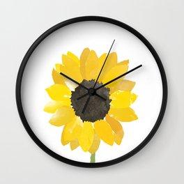 Watercolor Sunflower Wall Clock