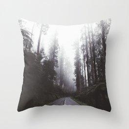 Mystic Highway Throw Pillow