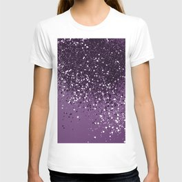 PURPLE Glitter Dream #1 #shiny #decor #art #society6 T-shirt