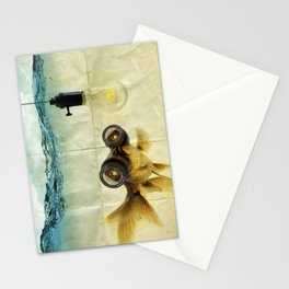 Fisheye Lens Goldfish Stationery Cards