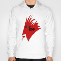 hiphop Hoodies featuring HIPHOP RED  by Robleedesigns
