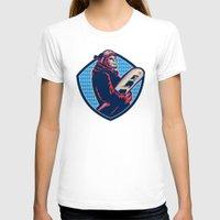 snowboard T-shirts featuring Snowboarder Holding Snowboard Retro by patrimonio