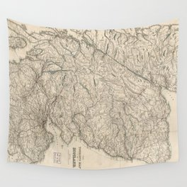Vintage Map of Scotland (1855) Wall Tapestry