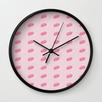 macarons Wall Clocks featuring Macarons by Alexa