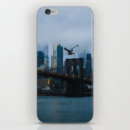 New York City skyline in the fog iPhone Skin