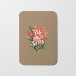 Yes Today Satan - lily flower, blush pink, deep tan colour combo Bath Mat