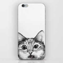 silly cat iPhone Skin