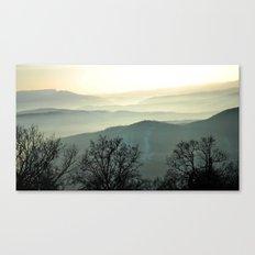 mist landscape Canvas Print