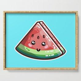Kawaii Cute Watermelon Piece Serving Tray