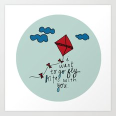 Let's Go Fly A Kite. Art Print