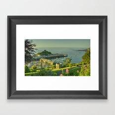 Ilfracombe Harbour Summer Framed Art Print