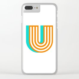 Letter U Clear iPhone Case