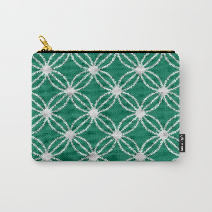 Abstract Circle Dots Green Carry-All Pouch