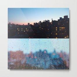 New York Droplets  Metal Print