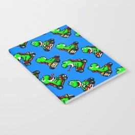Yoshi pattern | Super Mario Kart | blue sky Notebook