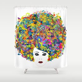 Great Hair Day Shower Curtain